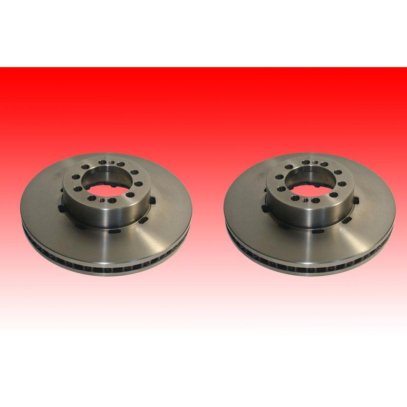 SBB Vorderachse passend für Renault Midlum Bremsscheibensatz 2x Bremsscheibe